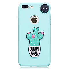Voor apple iphone 7 7 plus case hoesje cactus patroon fruit kleur tpu materiaal diy telefoon hoesje 6s 6 plus zie 5s 5