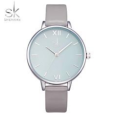 SK Dames Modieus horloge Polshorloge Chinees Kwarts Stootvast Grote wijzerplaat PU Band Vrijetijdsschoenen Luxueus minimalistische Grijs
