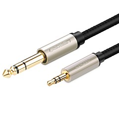 UGREEN Audio jack 3,5 mm Câble, Audio jack 3,5 mm to 6.35mm Câble Male - Male 1.0m (3ft)