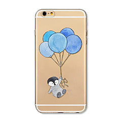 Etui til iphone 7 plus 7 cover gennemsigtigt mønster bagcover case cartoon animal balloon soft tpu til iphone 6s plus 6 plus 6s 6 se 5s 5c