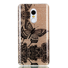 Etui til xiaomi redmi 4a note 4x dobbelt imd taske bagcover tilfælde blomster og sommerfugle mønster blød tpu redmi 3s