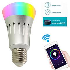 8W Ampoules LED Intelligentes A60(A19) 22 SMD 2835 600 lm RVB Blanc Wi-Fi AC 85-265 V 1 pièce