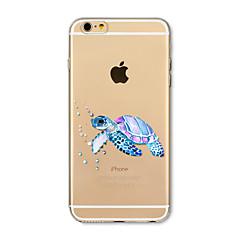 Obudowa dla telefonu iphone 7 plus 7 pokrywka przezroczysta obudowa pokrywa tylna obudowa żółw morski miękki tpu dla iphone 6s plus 6 plus