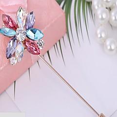 Damskie Broszki Cyrkonia Kwiaty biżuteria kostiumowa Cyrkon Flower Shape Biżuteria Na Przyjęcie urodzinowe Walentynki