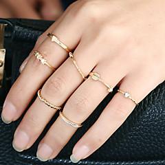 Dame Ring Manchet ring Rundt design Euro-Amerikansk minimalistisk stil Metallegering Rhinsten Legering Cirkelformet Rund form Smykker Til