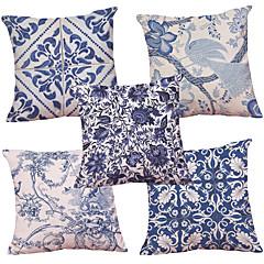 5 szt Kordonek Naturalne / ekologiczne Pokrywa Pillow Poszewka na poduszkę,Textured Retro Tradycyjny / Classic Wałek Euro Styl plażowy
