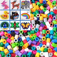 kb 500db / zsák 5mm vegyes színű biztosíték gyöngyök hama gyöngyök DIY kirakós EVA anyagból safty gyerekeknek (véletlenszerű szín)