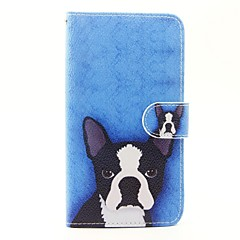 Tilfælde til wiko lenny 3 lenny 2 tilfælde dække hundemønster pu læder tasker til wiko solnedgang 2