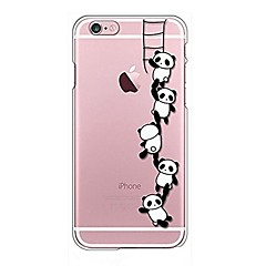 Voor iPhone X iPhone 8 Hoesje cover Transparant Patroon Achterkantje hoesje Cartoon Panda Zacht TPU voor Apple iPhone X iPhone 7s Plus