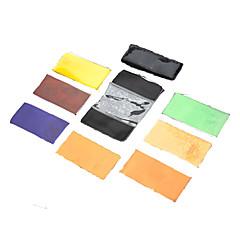 NEWYI CF-07 Speedlite Renk Filtreler (5 x 7 Renk) ayarlayın
