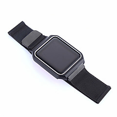 Milaan horlogeband met metalen frame voor appelwatch serie 1 2 38mm 42mm RVS vervangende armband