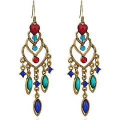 Dames Druppel oorbellen Bergkristal Oversized Vintage Legering Hartvorm Drop Sieraden Voor Anders >> Toneel Uitgaan