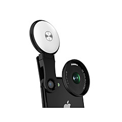 Fanbiya mobiltelefon objektív 20x makró lencsevédő lámpával 37 mm-es alumíniumötvözet üveg az android iphone-hoz