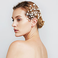 vrouwen parel bloem haar sieraden haarspelden voor huwelijksfeest (set van 6)