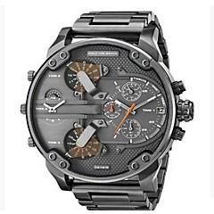 Heren Militair horloge Dress horloge Modieus horloge Polshorloge Chinees Kwarts Kalender Dubbele tijdzones Punk Grote wijzerplaat