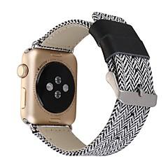 Για 38 / 42mm μήλο σειρά ρολόι 2 σειρές 1 ζώνη αντικατάστασης ανοξείδωτο μεταλλικό κούμπωμα πόρπη άνετο ύφασμα denim και δέρμα ιμάντα