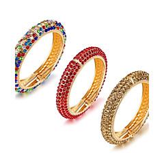 Damskie Bransoletki cuff Cyrkonia Klasyczny Modny Godny podziwu luksusowa biżuteria Cyrkon Pozłacane Pokryte różowym złotem Circle Shape