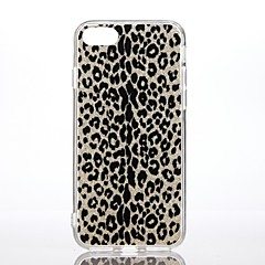 Etui til Apple iPhone 7 7 plus stødtæt mønster bagcover case leopard print glitter shine hard pc til iPhone 6s plus 6 plus