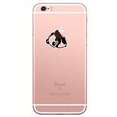 Para iPhone X iPhone 8 Carcasa Funda Transparente Diseños Cubierta Trasera Funda Logo Playing With Apple Caricatura Oso Panda Suave TPU