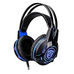 K1 kuuloke langallinen kuulokkeet dynaaminen muovipeliointi kuuloke valoisa mikrofoni äänenvoimakkuuden säätö headset