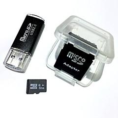 Usb kart okuyucu ve sdhc sd adaptör ile 32GB microSDHC tf hafıza kartı