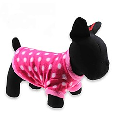 katten / honden T-shirt Rood Hondenkleding Winter Polka dots