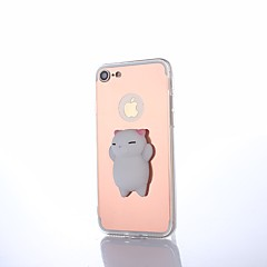 Kompatibilitás iPhone 8 Plus tokok Tükör DIY pépes Hátlap Case Cica Tömör szín 3D figura Kemény PC mert Apple iPhone 8 Plus iPhone 7 Plus