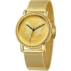 MEGIR Heren Sporthorloge Modieus horloge Polshorloge Unieke creatieve horloge Vrijetijdshorloge Horloge Hout Kwarts KalenderRoestvrij
