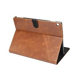 Solide gekke ma-patroon echt lederen tas met stand voor huawei mediapad m3 lite 10,0 m310 10,1 inch tablet pc