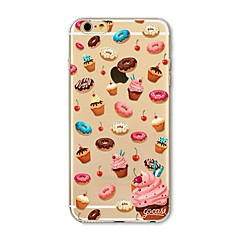 Tok iPhone 7 plusz 7 fedél átlátszó mintás hátsó borító esetében étel fánk soft tpu az Apple iPhone 6s plusz 6 plusz 6s 6 se 5s 5c 5 4s 4