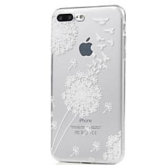 Voor iPhone X iPhone 8 Hoesje cover Ultradun Patroon Achterkantje hoesje Paardebloem Zacht TPU voor Apple iPhone X iPhone 7s Plus iPhone