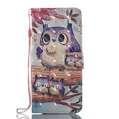 hordtáska kártyatartó pénztárca állvánnyal flip mágneses minta teljes testes tok owl hard tpu a samsung galaxis s8 plus s8 s7 él s7