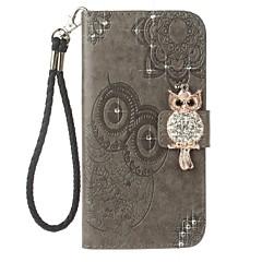 voor case cover kaarthouder portemonnee strass met tribune flip reliëf patroon vol body case uil hard pu leer voor huawei huawei p10