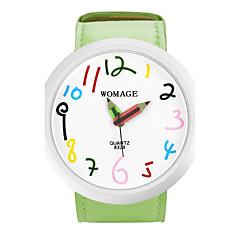 Dames Modieus horloge Kwarts PU Band Cartoon Zwart Blauw Rood Orange Groen Geel Oranje Geel Rood Groen Blauw