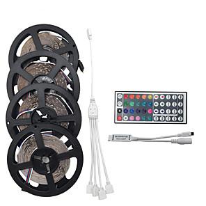 20χιλ Σετ Φώτων 1200 LEDs 3528 SMD RGB ΤηλεχειÏιστήÏιο / ΜποÏεί να κοπεί / Με Ïοοστάτη 100-240 V / Συνδέσιμο / Κατάλληλο για Οχήματα / Αυτοκόλλητο / Αλλάζει ΧÏώμα / IP44