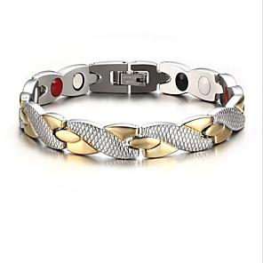 Heren Armbanden met ketting en sluiting - Roestvast staal, Verzilverd, Verguld Kruis Gepersonaliseerde, Modieus Armbanden Goud / Zilver Voor Feest Dagelijks Causaal