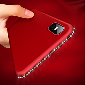 hoesje Voor Apple iPhone XR / iPhone XS Max Ultradun / Mat Achterkant Strass Zacht TPU voor iPhone XS / iPhone XR / iPhone XS Max