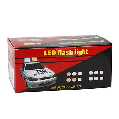 Politie stijl auto dc 12v 96 led rood blauw for Led autolampen