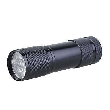 Mini Aluminum 9 LED Flashlight (3x10440/3xAAA, Random Color)