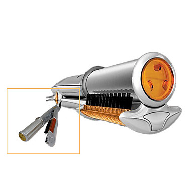 2-in-1 LCD Rotating Curling and Straightening Iron