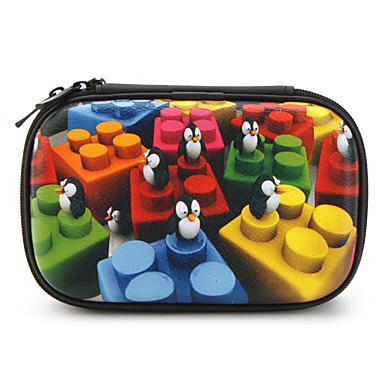 estuche protector con los pingüinos para Nintendo DSi y NDSL (negro)