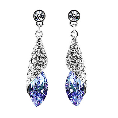 Drop Earrings Statement Jewelry Elegant Fashion Crystal Alloy Drop Jewelry For Party Birthday Gift Daily 1 Pair