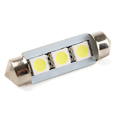 36mm 5050 smd 3 led wit licht festoen lamp voor auto for Led autolampen