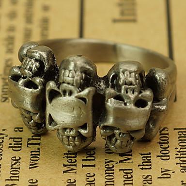 Мужская двусторонняя кольца черепа сплава