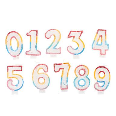 cake decoratie cijfers kaarsen set 1 tot 10 10 pack