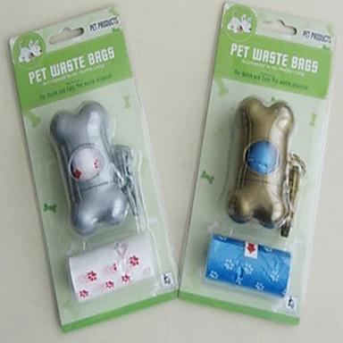 милые кости форме кормы собаки сумку пакет с дозатором аромата 2 рулона (случайный цвет)