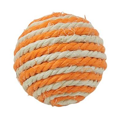 пеньковой веревки мяч для домашних животных (случайные цвета)