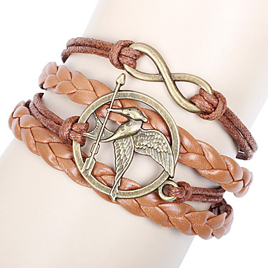 Leather Bracelet Fashion Movie Bird Handmade Infinity Friendship Bracelet Inspirational Love Bracelet Jewelry Wrap Bracelet Christmas Gifts1 pc