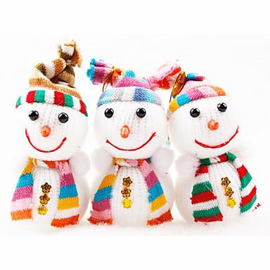 1PCS 12cm Snowman Doll Christmas Decoration Christmas Tree Ornament(Random Color)