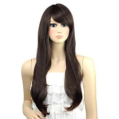 femme ondul belle bang c t long perruques synth tiques chaleur fibre perruque cheveux parti. Black Bedroom Furniture Sets. Home Design Ideas